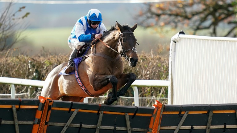 Boothill clears the last under Sean Bowen on his way to an impressive win at Taunton