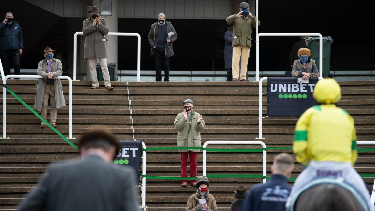 Spectators have been limited on British racecourses due to Covid-19