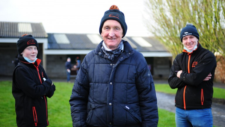 Frank Motherway (centre) and Yellowford Farm provided the day's top three lots