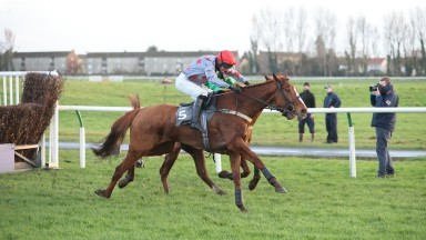 STRONG ECONOMY (Derek Fox) wins at AYR 14/12/20Photograph by Grossick Racing Photography 0771 046 1723