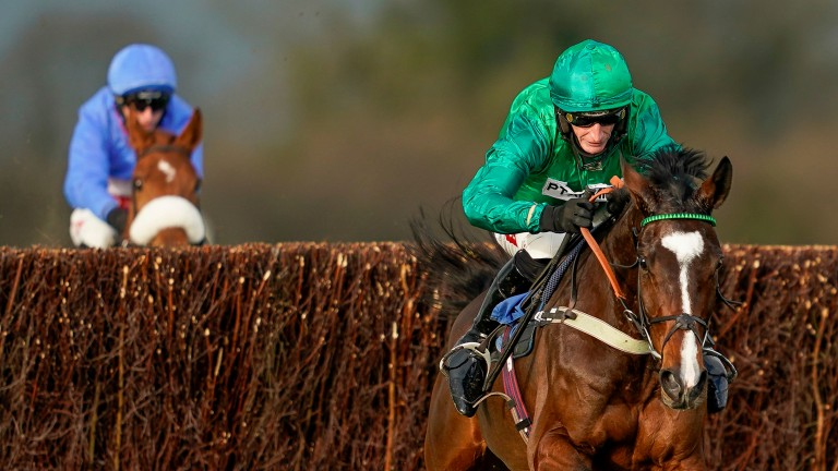 Messire Des Obeaux: two from two over fences and bids to uphold the fine record of his connections in the Scilly Isles Novices' Chase