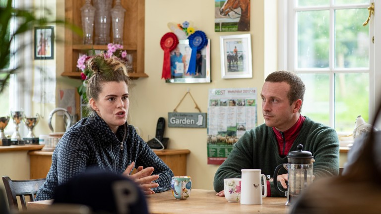 Lizzie Kelly and her husband Ed Partridge at Culverhill Farm