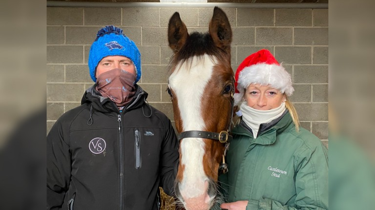 Billy McEnery and Brenda Shortt with the Dark Angel colt (lot 759)