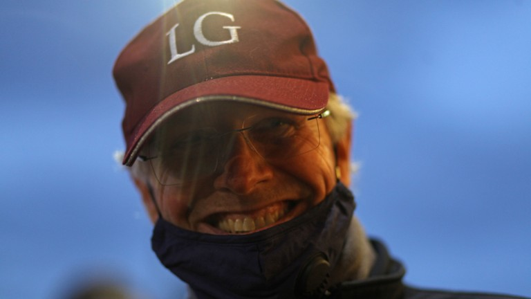 Oliver St Lawrence is all smiles after signing for the Kingman half-brother to Galileo Gold at 2,700,000gns