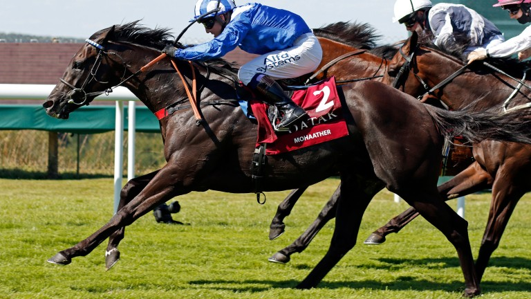 Mohaather wins the Group 1 Sussex Stakes