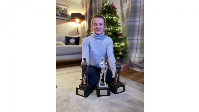Prized possessions: Hollie Doyle with her trophies