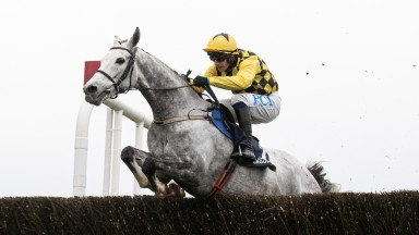Asterion Forlonge and Paul Townend clear the last on their way to winning a beginners chase at Punchestown