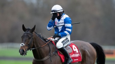 An emotional Bryony Frost after Frodon's win in the King George VI ChaseKempton 26.12.20 Pic: Edward Whitaker/Racing Post