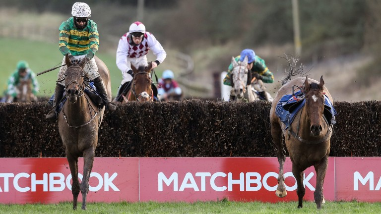 The Long Mile and Slippers Madden have just the loose horse for company over the last in the Tim Duggan Memorial Handicap Chase