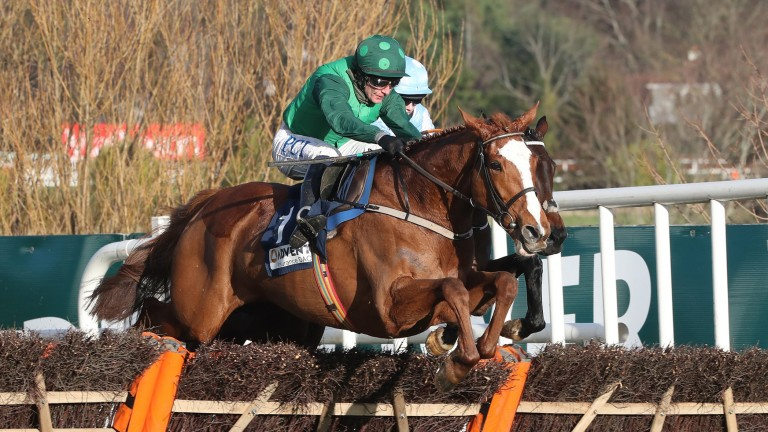 Concertista: on her way to winning the Grade 3 mares' hurdle at Leopardstown