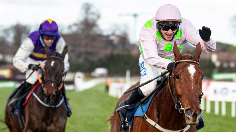 Monkfish is one of the stars set to feature in the ITV4 Leopardstown coverage next Sunday