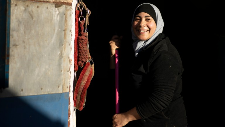 Salwa Tebai: assistant at the Urban Equestrian Academy