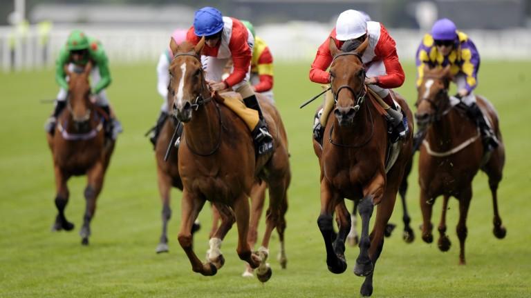 Spacious (white cap) leads home Heaven Sent for a Royal Ascot 1-2