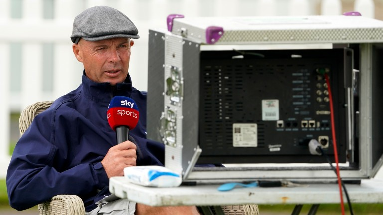 Luke Harvey: took over from caller Mike Cattermole to commentate on a race on Monday