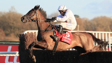 Nube Negra bags the Desert Orchid Chase at Kempton under Harry Skelton to mark himself down as a live Champion Chase contender