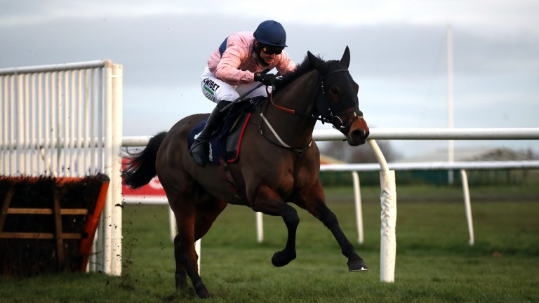 Lily Of Leysbourne gallops away to win the race Hawthorn Cottage was disqualified from