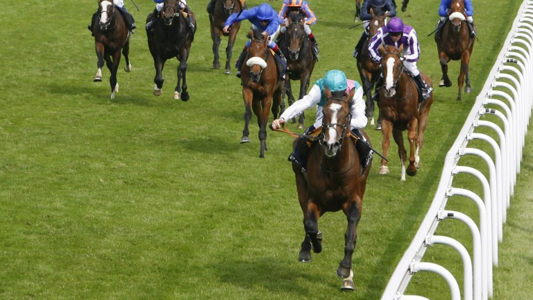 Workforce and Ryan Moore land the 2010 Derby, a third success in the Epsom Classic for Khalid Abdullah after Quest For Fame and Commander In Chief