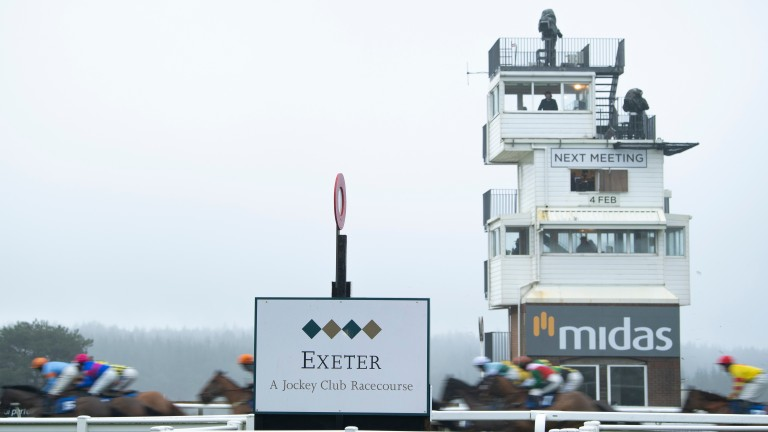 Exeter: Friday's first race meant trouble for connections of fourth-placed Whistleinthedark