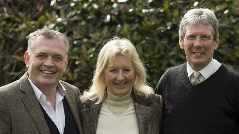James Evans (right) and Jane Evans (centre): enjoying their best ever Flat campaign