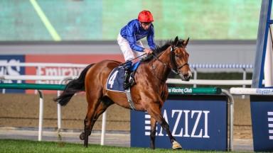 WALTON STREET (GB) ridden by William Buick wins the 12 F Listed Handicap, The Dubai Racing Club Classic Sponsored By Aliyah By Azizi, race 2, at Meydan Dubai World Cup Carnival.