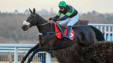 First Flow -David Bass winsThe Matchbook Betting Exchange Clarence House Chase (Grade 1)Ascot  23.1.21Back to Racing behind closed doors due to the Covid-19 pandemic. ©mark cranhamphoto.com