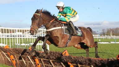 BUVEUR D'AIR and Nico de Boinville in the Unibet New One Hurdle at HAYDOCK PARK 23/1/21Photograph by Grossick Racing Photography 0771 046 1723