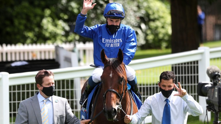 Ghaiyyath and William Buick, pictured here after beating Enable in the Eclipse last summer