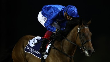 Frankie Dettori partners Soft Whisper to an impressive success in the UAE 1,000 Guineas