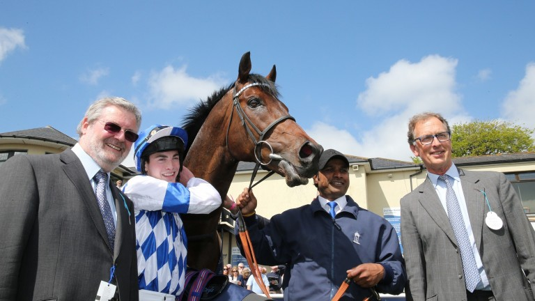Al Kazeem strikes a pose after landing the Tattersalls Gold Cup