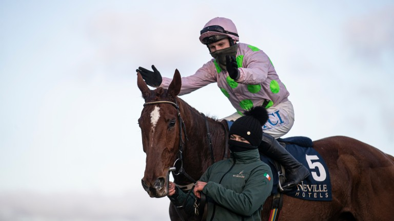 Paul Townend is thrilled with Monkfish after his easy win in the Flogas Novice Chase