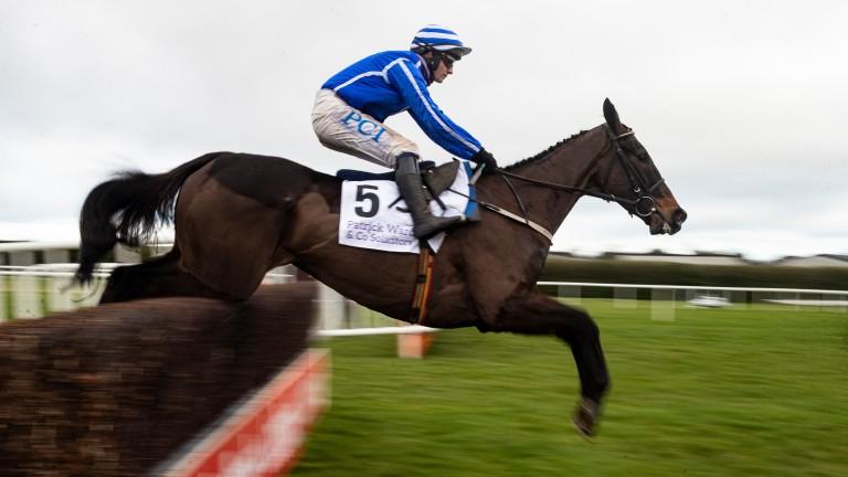 Energumene and Paul Townend en route to winning the Irish Arkle