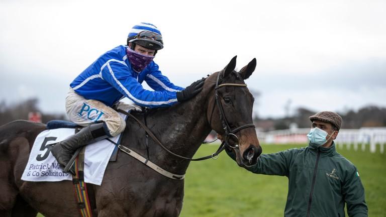 Energumene and Paul Townend after winning the Irish Arkle