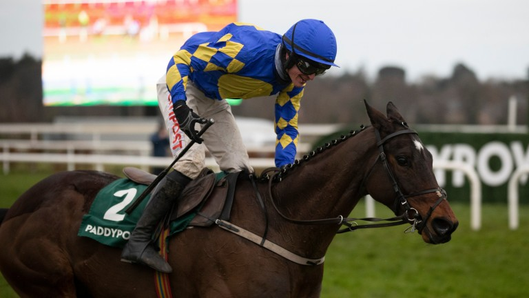 Kemboy and Danny Mullins win the Paddy Power Irish Gold Cup at Leopardstown