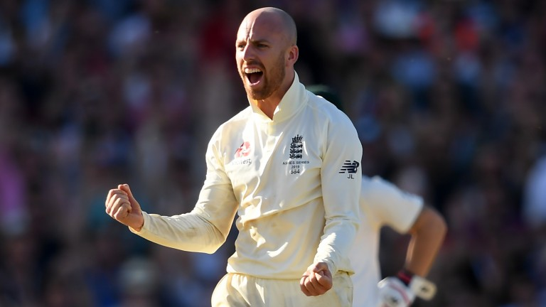 England spinner Jack Leach could star with the ball