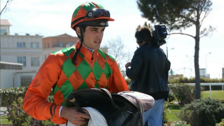 Lewis Conan, one of two jockeys to take the correct course in the most famous race ever run at Castera Verduzan
