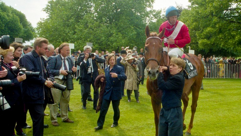 Pivotal returns victorious after the King's Stand Stakes at Royal Ascot in 1996