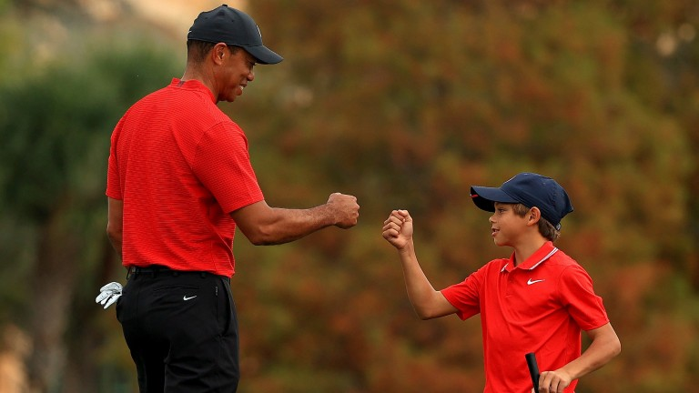 Charlie Woods greatly impressed oddsmakers in the PNC Championship