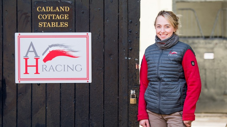 Alice Haynes: trainer of Philly Eagles snapped up the Havana Gold filly for 27,000gns at Tattersalls Ascot