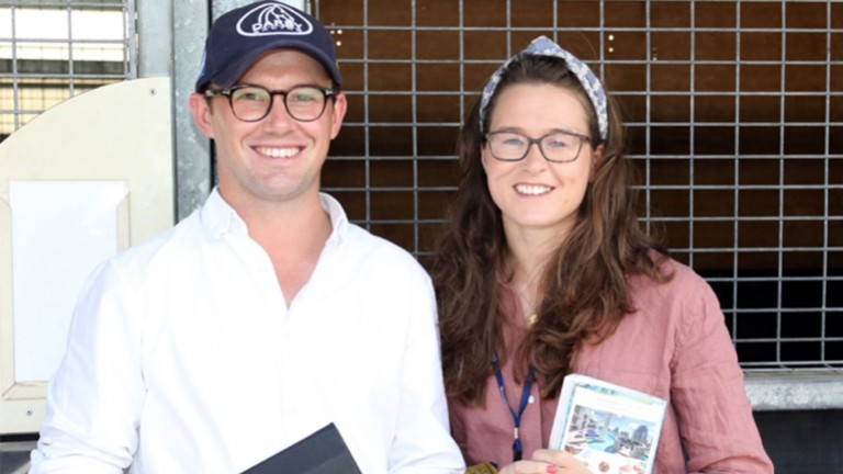 Lowri Allen (right): spent a productive time in Australia, including at the Magic Millions