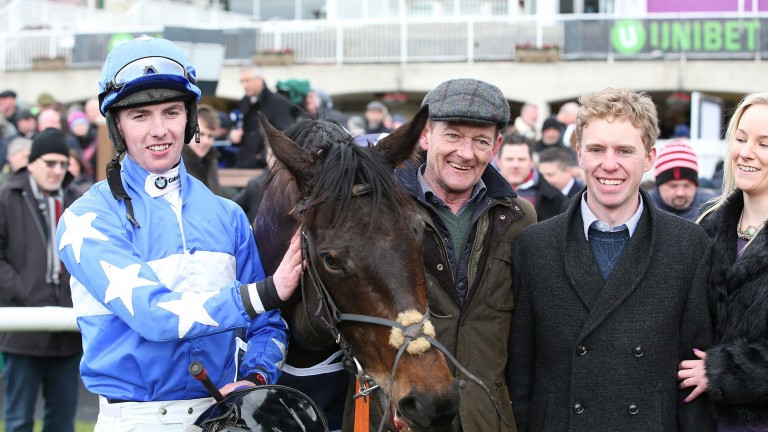 Shane Crawley (second from right): considering an appeal following the decision by the Fairyhouse stewards
