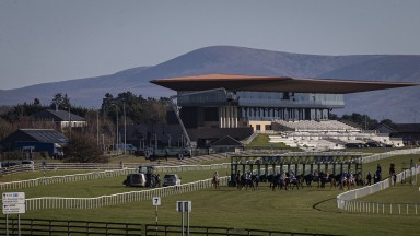 Behind the stalls for the second race on the card.The Curragh.Photo: Patrick McCann/Racing Post 06.11.2020