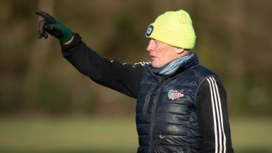 Trainer Gary Moore on the gallops at Cisswood Racing Stables in West Sussex 26.2.21Pic: Edward Whitaker