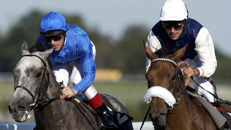 Friends and rivals: Frankie Dettori (left) could be riding for Darryll Holland soon