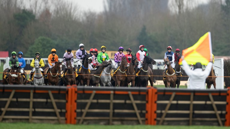 Outside of the Cheltenham Festival, the one race where the runners and riders go hell for leather from start to finish is the valuable Betfair Hurdle. Eager to get a handy position, the jockeys push to the front at the tapes and there is a false start