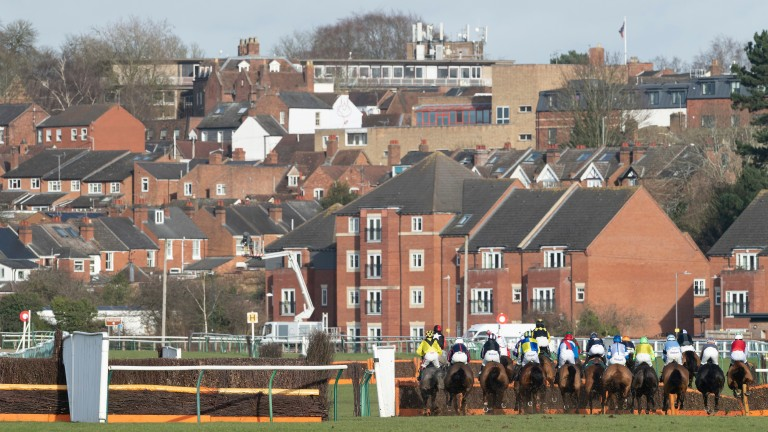Runners and riders appear to be racing into an urban sprawl at Warwick