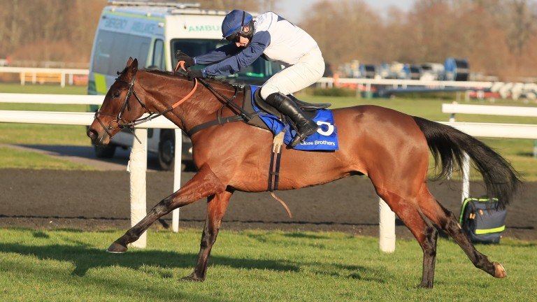 Clondaw Castle and Jonathan Burke land the Close Brothers Handicap Chase at Kempton