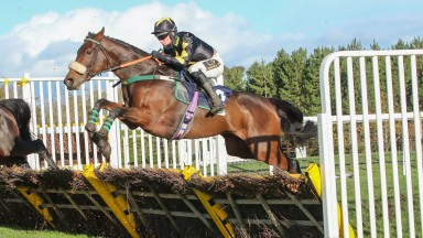 RAYNAS WORLD (Thomas Dowson) wins at HEXHAM 25/10/20Photograph by Grossick Racing Photography 0771 046 1723