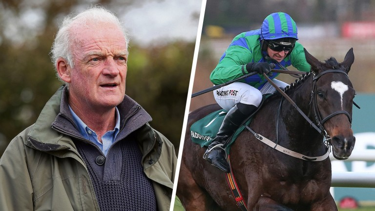 Willie Mullins and Appreciate It, the hot favourite for the Sky Bet Supreme Novices' Hurdle