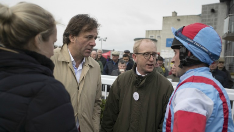 Sean Tiernan (centre left) is racing manager for Kate and Andrew Brooks