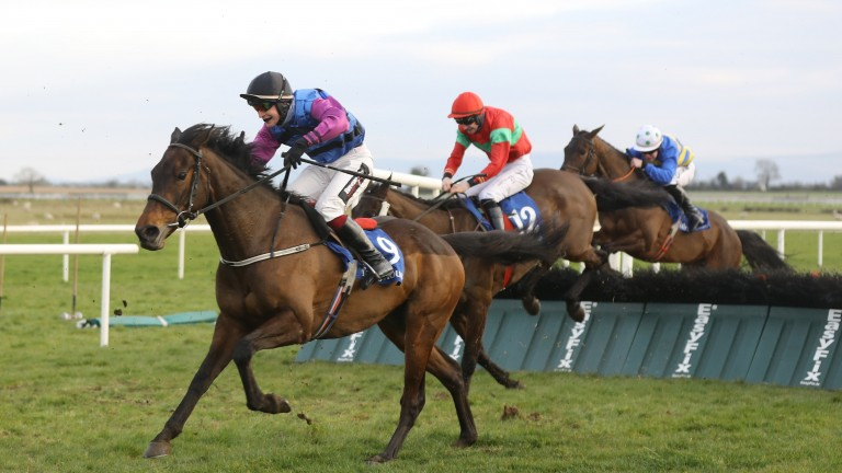 Tangental and JJ Slevin land the first division of the handicap hurdle